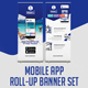 Mobile App Roll Up Banner Set
