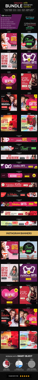 Valentines Bundle - Banners & Ads Web Elements