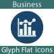 Business flat Glyph Icons