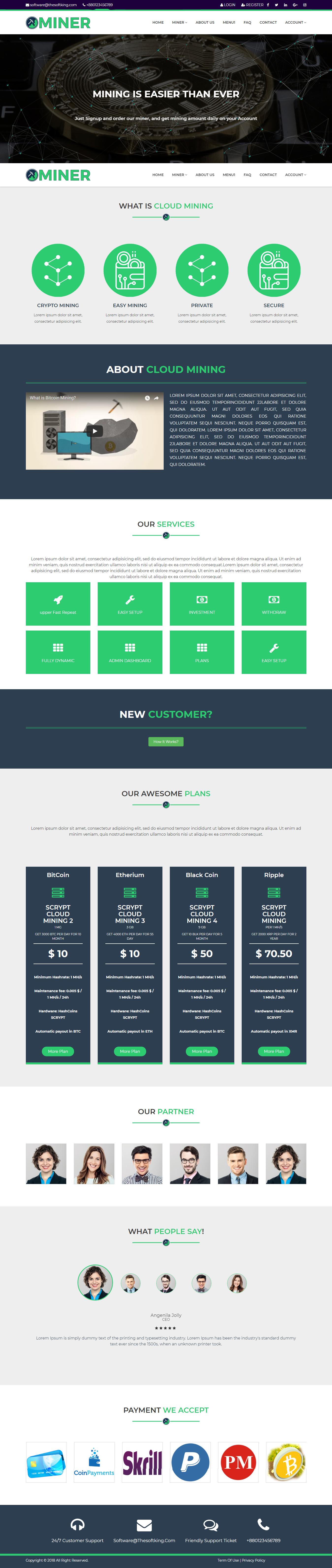 MINER - Cloud Mining Platform