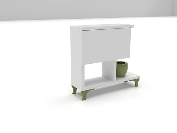 Corona bedside table - 3DOcean Item for Sale