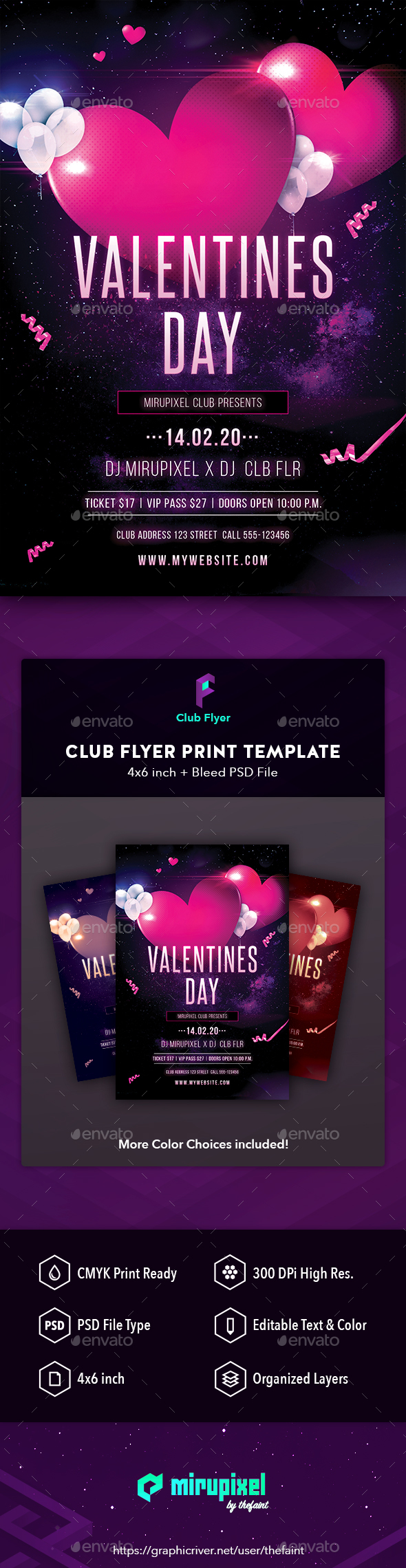 Club Flyer: Valentine's Day - Clubs & Parties Events