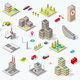 Isometric City Building Set - GraphicRiver Item for Sale
