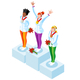 Podium Clipart Winter Sports Winners - GraphicRiver Item for Sale