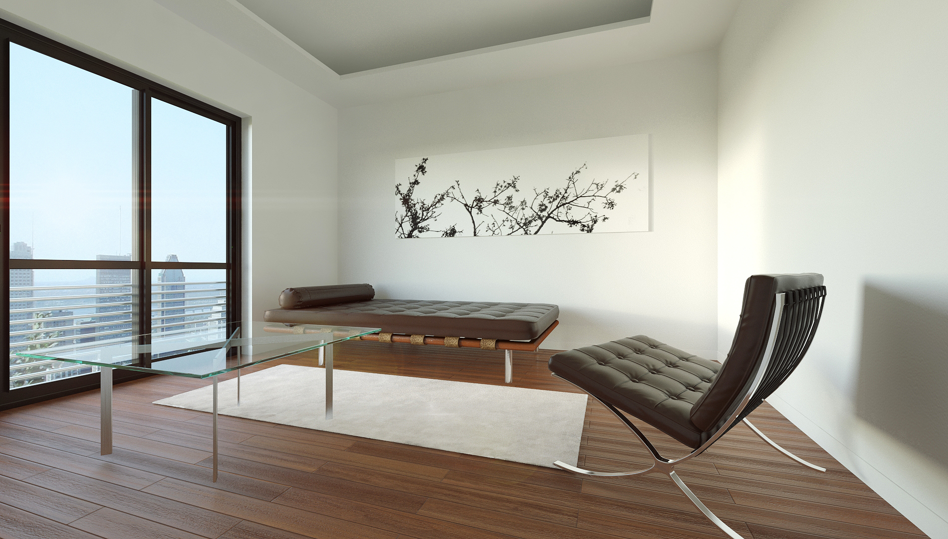 Vray interior scene w barcelona set by visuarch 3docean for Vray interior scene