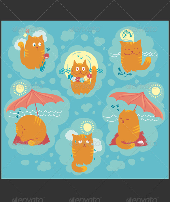 Summer Cats - Animals Characters