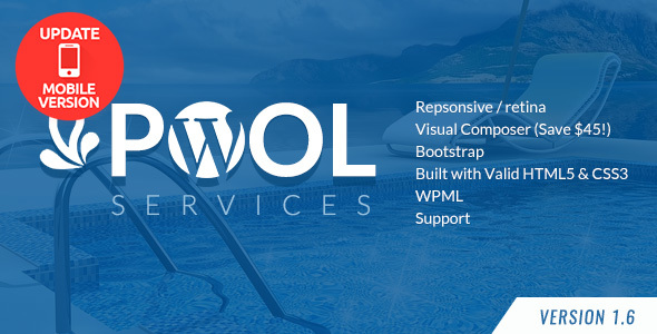 Pool Services WordPress Theme