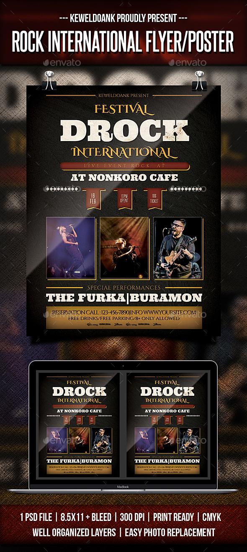 Rock International flyer / Poster - Concerts Events