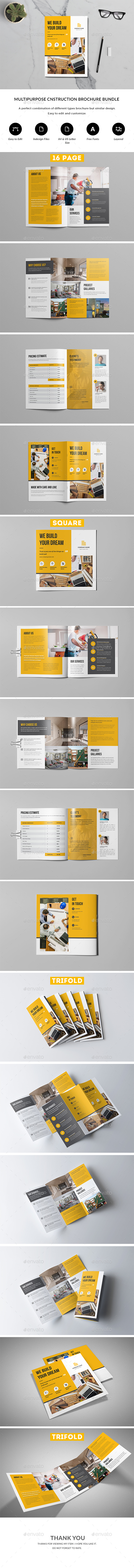 Construction Brochure Bundle - Corporate Brochures