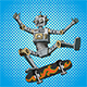 Pop Art Robot on Skateboard - GraphicRiver Item for Sale