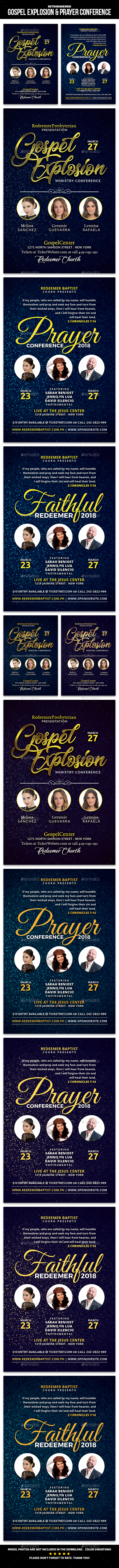 Gospel Explosion and Prayer Conference Church Flyer - Church Flyers