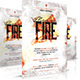 Men on fire Church Flyer - GraphicRiver Item for Sale