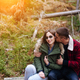 guy kisses his girlfriend in the forest - PhotoDune Item for Sale