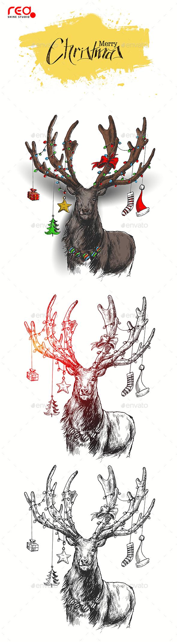 Reindeer For Christmas Decoration - Christmas Seasons/Holidays