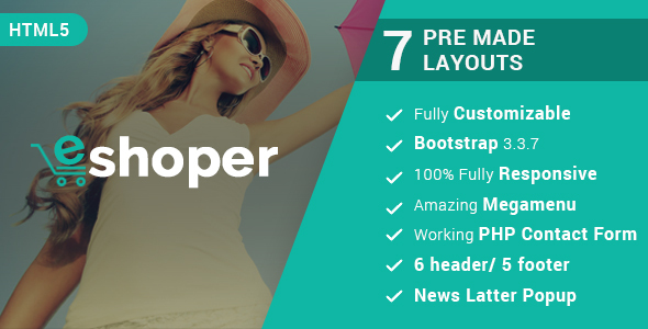 Eshoper - Responsive Multipurpose E-Commerce HTML5 Template