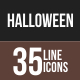 35 Halloween Line Multicolor B/G Icons