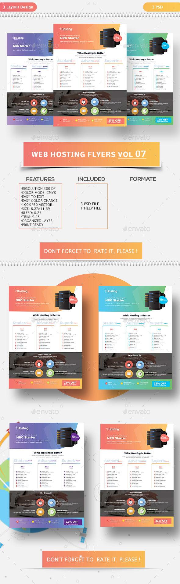 Web Hosting Flyers Vol-07 - Flyers Print Templates