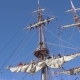Sailors Work with Sails at a Height on a Traditional Sailboat - VideoHive Item for Sale