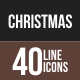 40 Christmas Line Multicolor B/G Icons