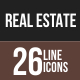 26 Real Estate Line Multicolor B/G Icons
