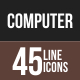 45 Computer & Hardware Line Multicolor B/G Icons