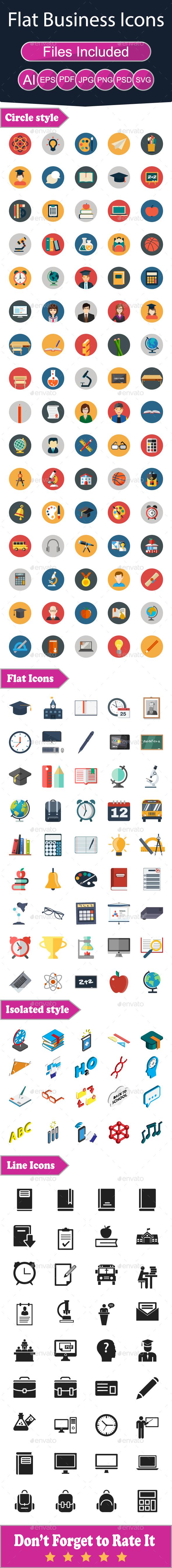 Education Flat Icons - Icons