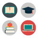 Education Flat Icons - GraphicRiver Item for Sale