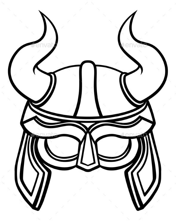 Viking Warrior Helmet - Sports/Activity Conceptual