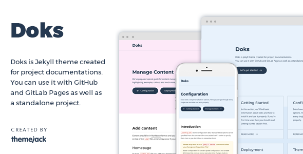 Doks — Jekyll Theme for Project Documentation - Jekyll Static Site Generators