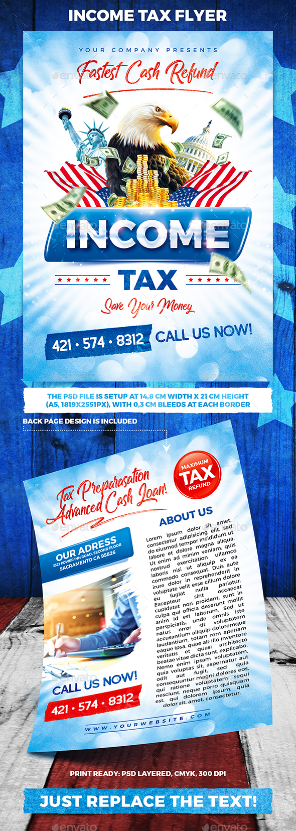 Income Tax Flyer - Commerce Flyers