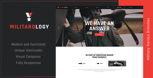 Image of Militarology | Military Service WordPress Theme
