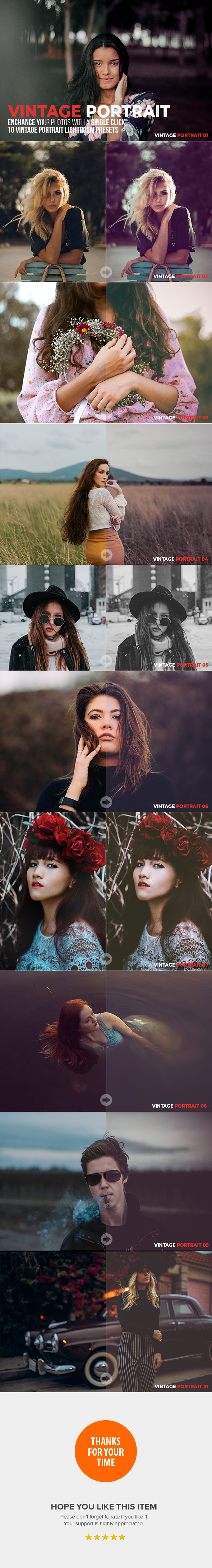10 Vintage Portrait Lightroom Presets - Portrait Lightroom Presets