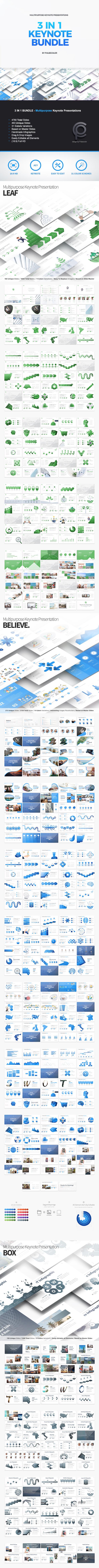 BUNDLE 3in1 - Multipurpose Keynote Presentations - Business Keynote Templates