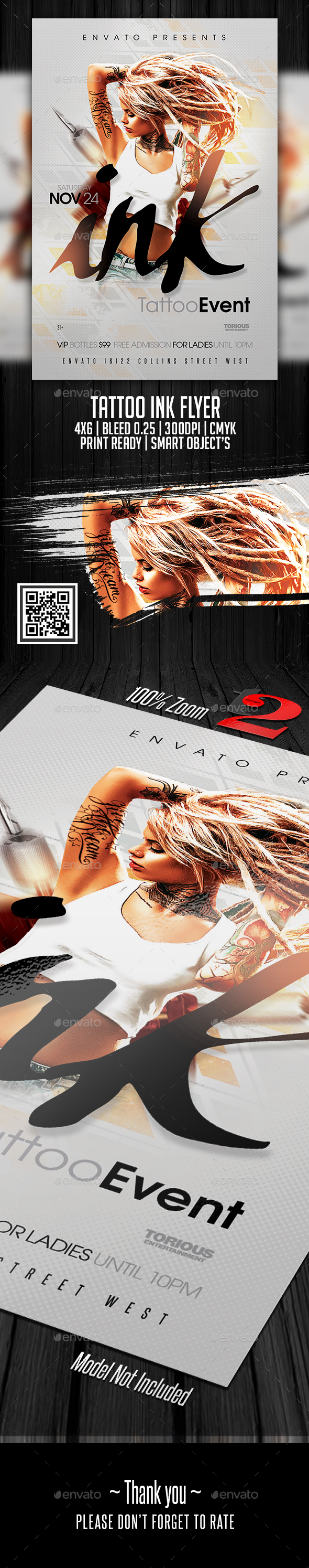 Tattoo Party - Tattoo Convention Flyer - Clubs & Parties Events