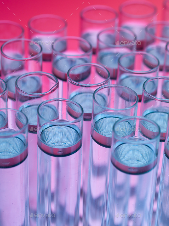 laboratory test tubes filled with liquid substances - Stock Photo - Images