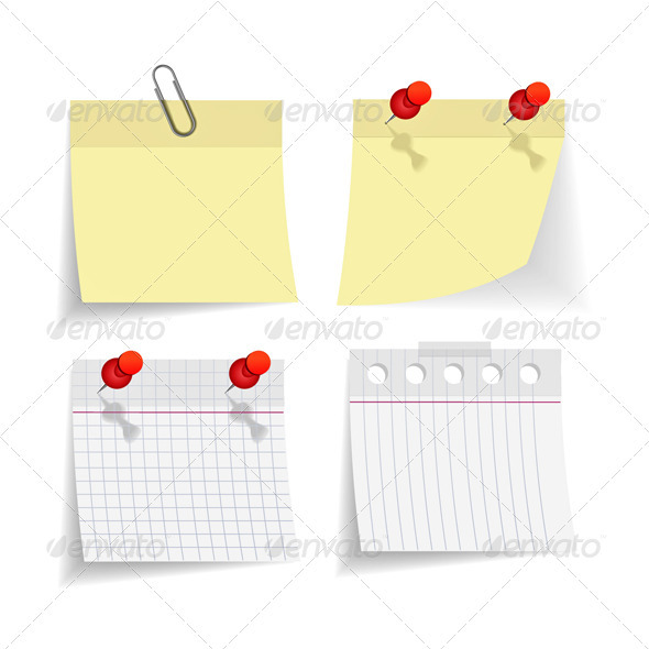 Yellow Notice Papers  - Abstract Conceptual