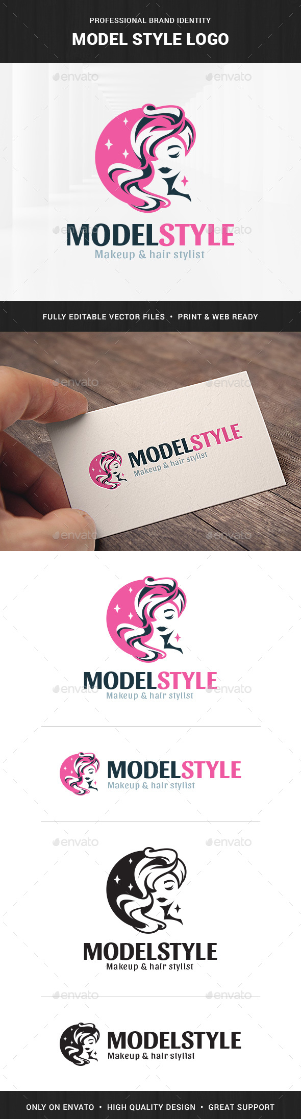 Model Style Logo Template - Humans Logo Templates