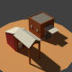 Low Poly Farm Sheds