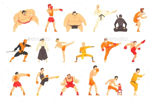 Martial Arts and Fighters - Sports/Activity Conceptual