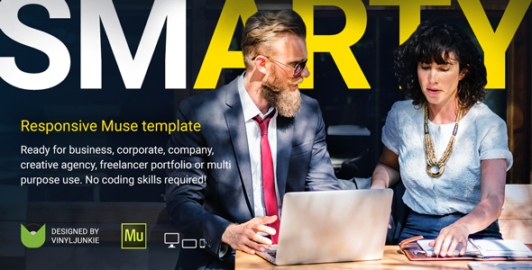 SmArty – Multipurpose Responsive Muse Template