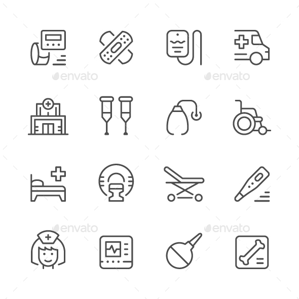Set of Medical Icons - Man-made objects Objects