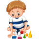 Boy Playing Shapes