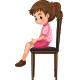 Little Girl sitting on Big Chair