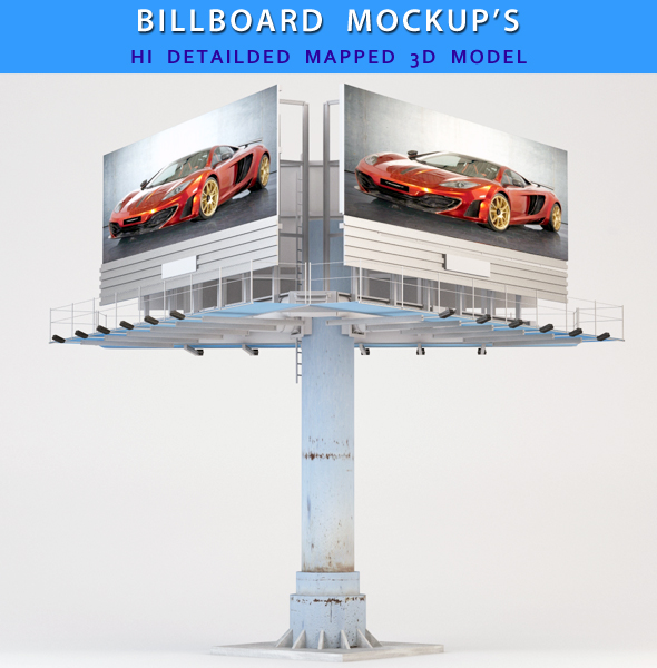Billboard Triangle - 3DOcean Item for Sale