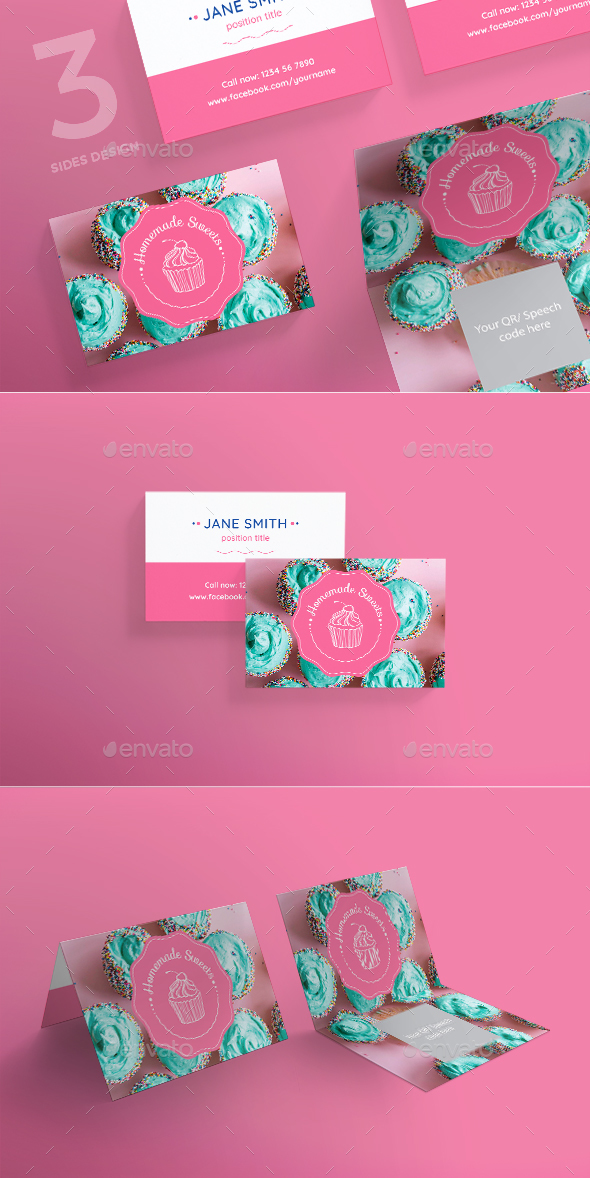 Homemade Sweets Business Card - Creative Business Cards