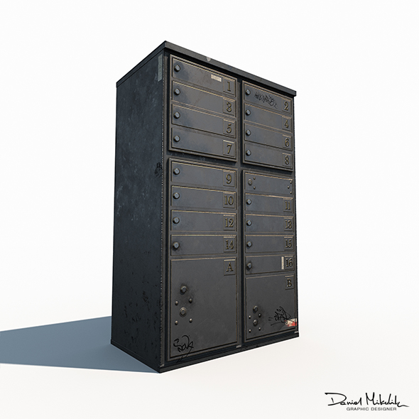 Old Mailbox Low Poly PBR - 3DOcean Item for Sale