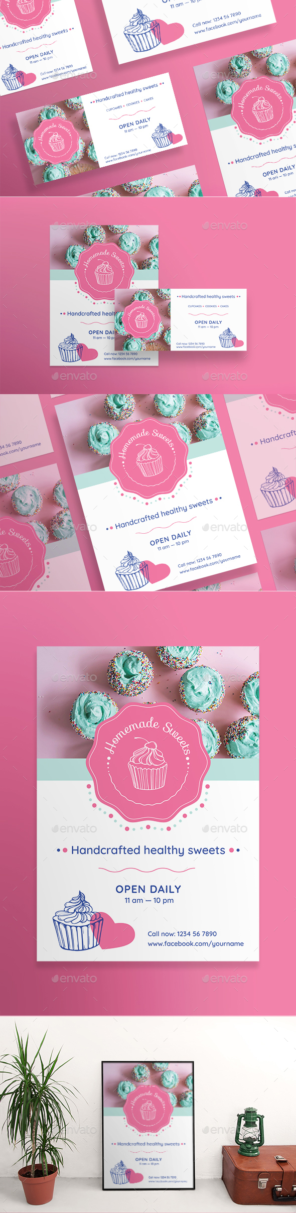 Homemade Sweets Flyers - Restaurant Flyers