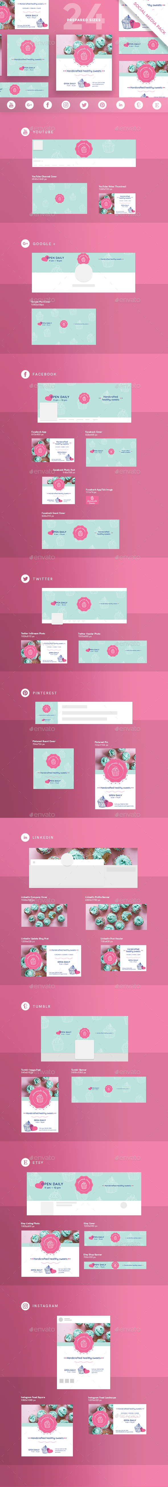 Homemade Sweets Social Media Pack - Miscellaneous Social Media