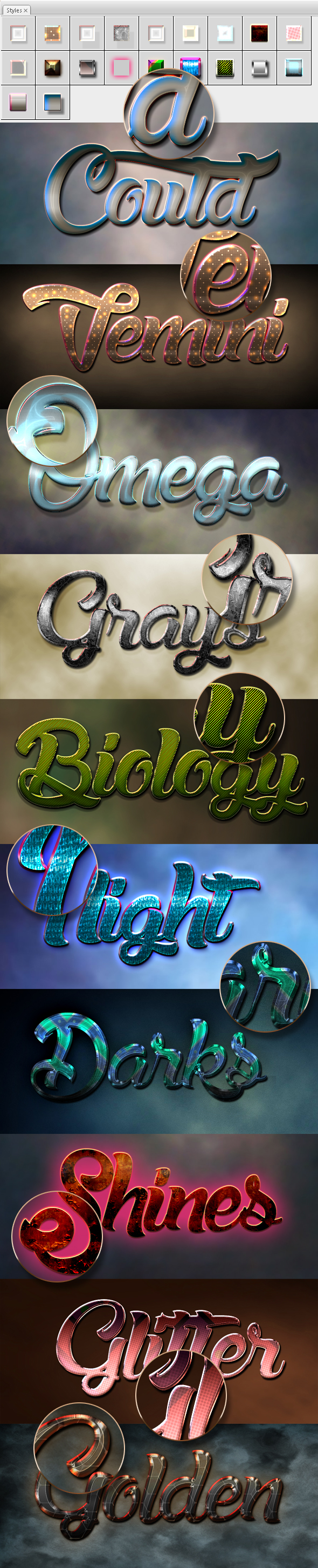 10 3D Text Styles D_58 - Styles Photoshop