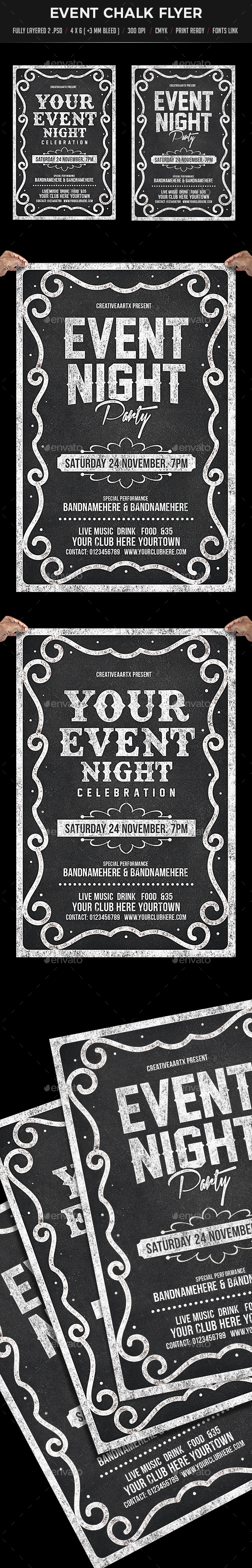Event Chalk Flyer - Flyers Print Templates